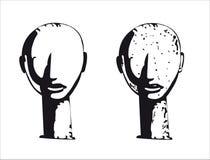 Sculpture principale africaine Photos libres de droits