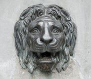 Sculpture principale en lion Image libre de droits