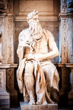 Sculpture of the prophet Moses, made by Michelangelo Stock Image