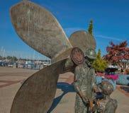Sculpture at Puget Sound Naval Shipyard (PSNS), Bremerton, Washington Stock Photo
