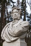 Sculpture of Pushkin in park Arkhangelskoe Royalty Free Stock Photo