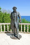 Sculpture of Pushkin in Park, in Partenit Stock Images