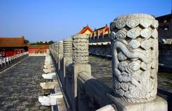 Sculpture-Railings. Beijing forbidden City White marble railings Stock Photography