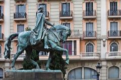 Sculpture of Ramón Berenguer III, Barcelona Stock Image