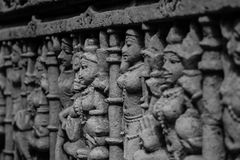 Sculpture at Ranki Step well Stock Images