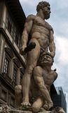 Sculpture of the Renaissance in Piazza della Signoria in Florenc Stock Images