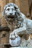 Sculpture of the Renaissance in Piazza della Signoria in Florenc Stock Photos