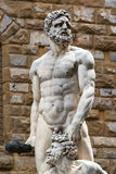 Sculpture of the Renaissance in Piazza della Signoria in Florenc Royalty Free Stock Images