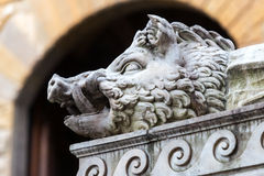 Sculpture of the Renaissance in Piazza della Signoria in Florenc Royalty Free Stock Image