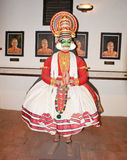 A sculpture representing a Kathakali dance in a museum in Kochi. Traditional classical dance form of Kerala, the Kathakali, represented by a life size sculpture Stock Photo