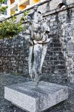 Sculpture at resort in Ascona in Switzerland. Ascona, Switzerland - August 23, 2016: Sculpture at resort in Ascona on Lake Maggiore in Ticino canton in royalty free stock photography