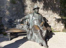 The sculpture `Resting krymchanin` in the park `Paradise` sanatorium `Aivazovsky` Partenit. Crimea. Royalty Free Stock Photos
