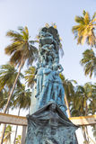 Sculpture in Riohacha with blue sky, Colombia Royalty Free Stock Photo