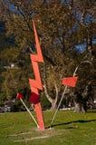 Sculpture in Riva del Garda an interesting town on Lake Garda Italy Stock Images