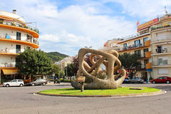 Sculpture at Road Lloret at european village Tossa de Mar Royalty Free Stock Images