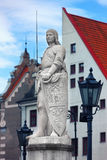 Sculpture of Roland in the Town Hall Square in Riga Stock Photo