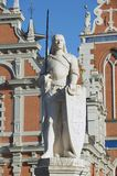 Sculpture of Roland at the Town Hall square in Riga, Latvia. Royalty Free Stock Images
