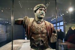 Sculpture of Roman Emperor Hadrian Stock Images