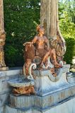 Sculpture Of Roman Legionary In The Beautiful Gardens Of The Farm. Art History Biology. royalty free stock photos