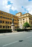Sculpture in the Rome city to Silvio Spaventa on June 1, 2014 Stock Image