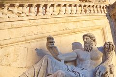 Sculpture in Rome, Italy, Europe. Sculpture in front of Capitolini museum, Rome, Italy Stock Photos