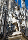 Sculpture on the roof of the Duomo. Milan, Italy. Royalty Free Stock Photo