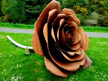 Sculpture of rose Stock Image