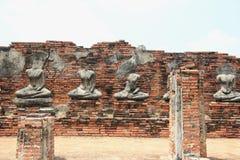 Sculpture ruinée en bhudda Photo stock