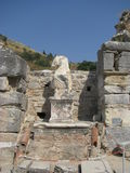 Sculpture ruins in Ephesus Royalty Free Stock Photos