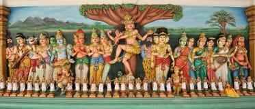 Sculpture`s Hindu statues Stock Photo