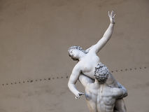 Sculpture of a Sabine Woman, Piazza Vecchio, Florence, Italy. Detail of a 16th c. marble sculpture of a Sabine woman in Florence's Palazzo Vecchio Stock Photo