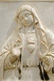 Sculpture sacrée en coeur, Venise Photographie stock libre de droits