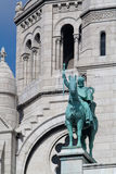 Sculpture of Sacre Coeur Stock Photos