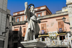 Sculpture of Saint Andrew in Amalfi Stock Photo
