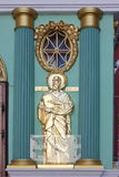 A sculpture of saint apostle is in city Moscow Royalty Free Stock Image