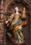 Sculpture of Saint Barbara in Burgos Cathedral Royalty Free Stock Photography