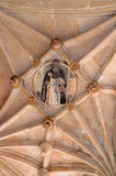 Sculpture of a saint in the ceiling Royalty Free Stock Images