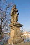 Sculpture of Saint Judas Thaddeus. The Apostle (circa 1708) on the Charles Bridge. Historic center of Prague (UNESCO site). Czech Republic Stock Image