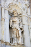 Sculpture of a Saint at Se Velha or Old Cathedral, Coimbra Royalty Free Stock Photography