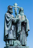 Sculpture of Saints Cyril and Methodius on Radhost Royalty Free Stock Images