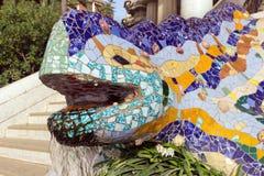 Sculpture of a salamandra Stock Images