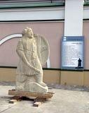 Sculpture of the samurai Stock Images