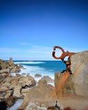 Sculpture. San Sebastian coastline landscape, Basque country, Spain Stock Photo