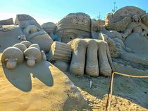 Sculpture in the sand royalty free stock photography