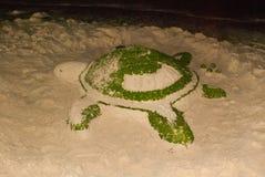 Sculpture of sand. Turtle. Boracay. Philippines. Stock Image