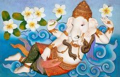 Sculpture sandstone of ganesha Stock Image