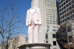 Sculpture sans tête en parc de jardin de ville, St Louis du centre, Missouri Photographie stock libre de droits
