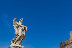 Sculpture on Sant Angelo Bridge in Rome Stock Images