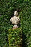 Sculpture in the Santa Clotilde Gardens. In Lloret de Mar stock image