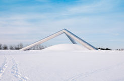A sculpture in Sapporo park in winter Stock Photography